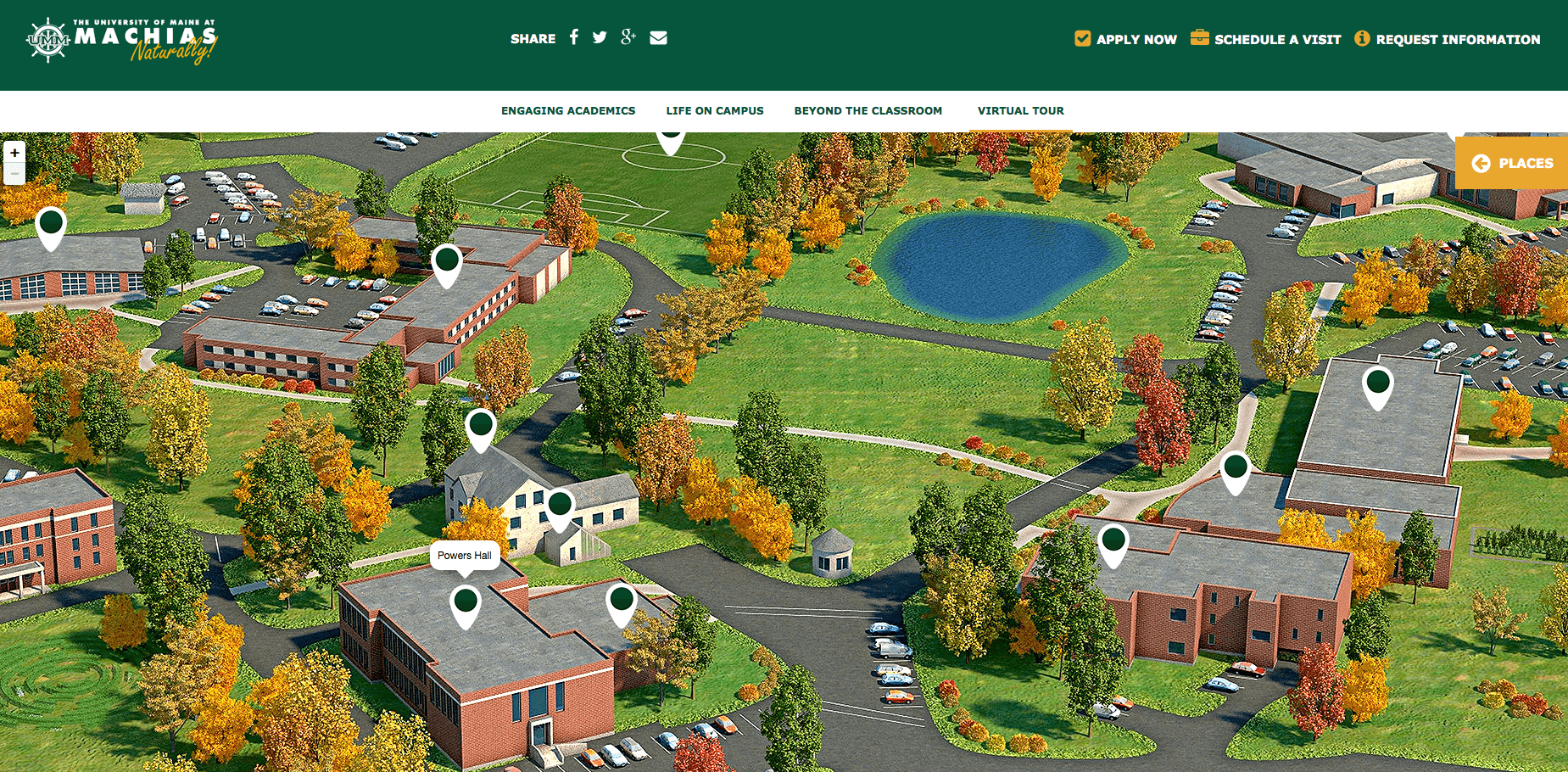 Machias 3D Campus Map