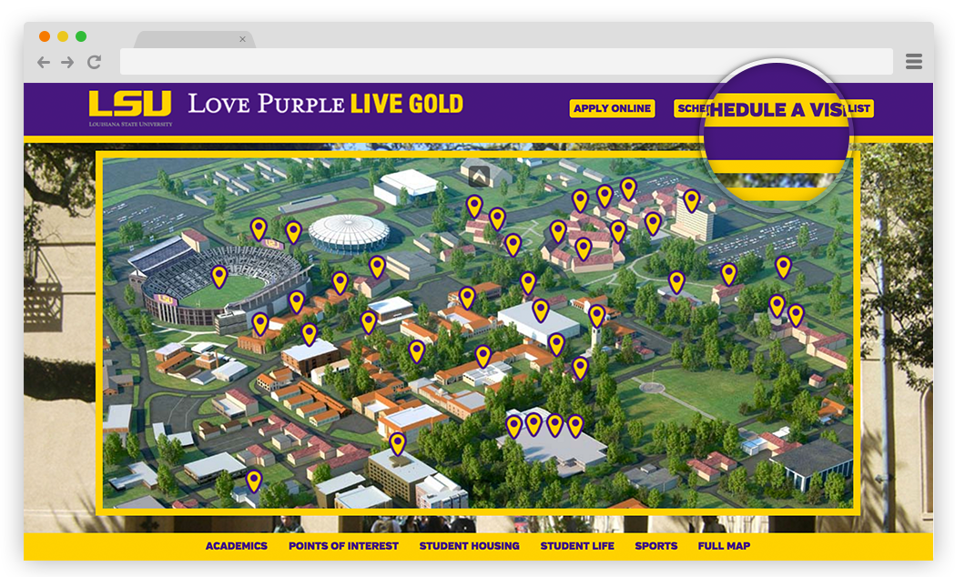 LSU Campus Map