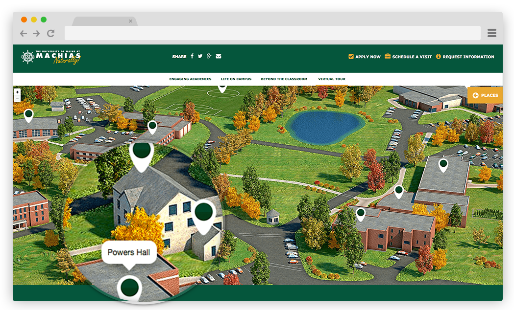 Interactive Campus Map Icon